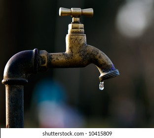 A leaky tap is wasting water