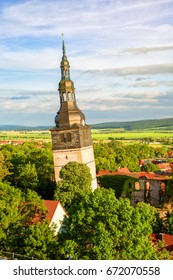 Leaning Church Tower in Bad Frankenhausen, Germany