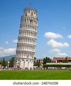 イタリア、ピサの斜塔