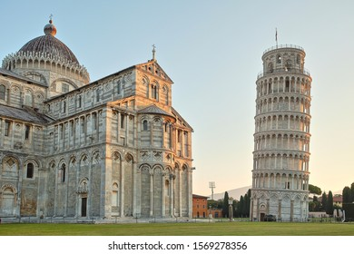Leaning Tower of Pisa in Pisa in Italy in Autumn