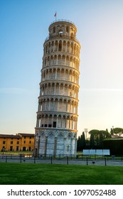 Leaning Tower of Pisa in Pisa, Italy - Leaning Tower of Pisa known worldwide for its unintended tilt and famous travel destination of Italy. It is situated near The Pisa Cathedral.