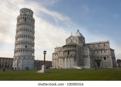 Leaning Tower of Pisa near Duomo di Pisa and Romulus, Remus and Capitoline Wolf