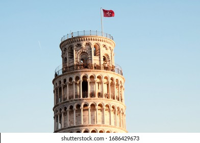 The Leaning Tower of Pisa in Piazza dei Miracoli, Tuscany, Italy