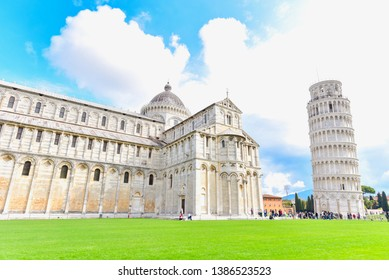 Leaning Tower of Pisa at Square of Miracles in Pisa City