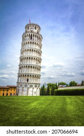 Leaning Tower of Pisa in Tuscany, a Unesco World Heritage Site and one of the most recognized and famous buildings in the world.