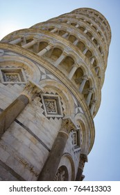 The leaning tower of Pisa at an unusual perspective