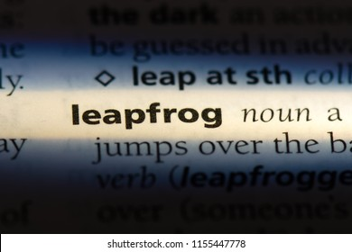 leapfrog word in a dictionary. leapfrog concept.