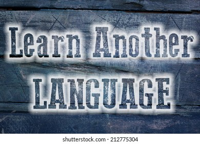 Learn Another Language Concept text