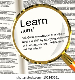 Learn Definition Magnifier Shows Knowledge Gained And Study