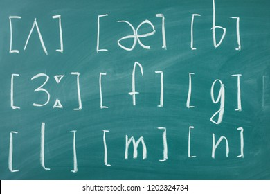 Learn english School lesson class chalkboard International phonetic alphabet.
