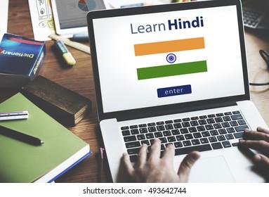 Learning Hindi Language Images, Stock Photos & Vectors