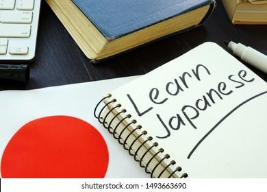 Learn Japanese handwritten in the notebook.