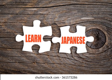Learn Japanese - words on puzzle