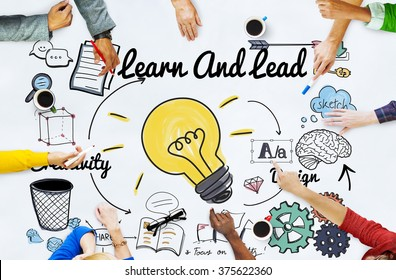 Learn and Lead Education Knowledge Development Concept
