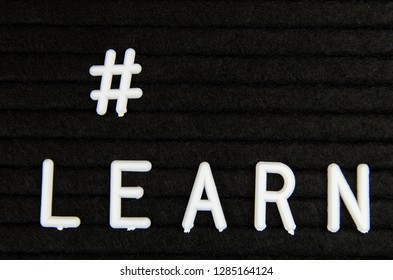 Learn sign. Motivation and inspiration for studying and Self-Improvement