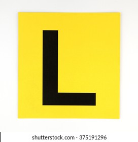 Learner Plate on isolate white background