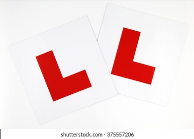 Learner Plates on White Background