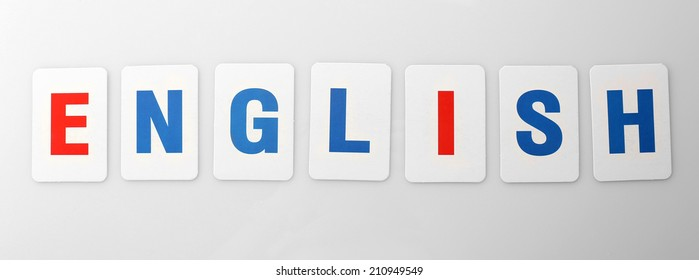 Learning alphabet letters isolated on white