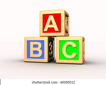 Learning blocks isolated on white space
