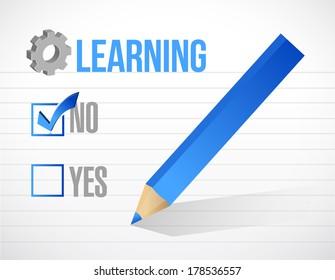 learning check mark illustration design over a white background