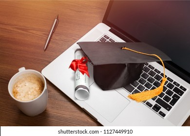 Learning online graduate education concept