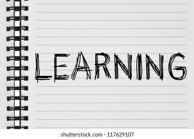 learning text on the notebook