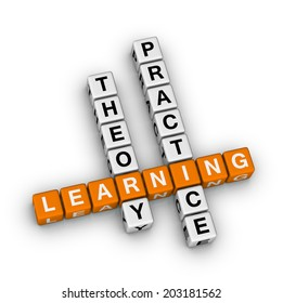 learning - theory and practice  (orange-white crossword series)
