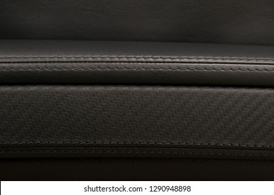 Leather background. Car interior detail.