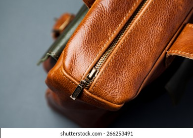Leather bag background