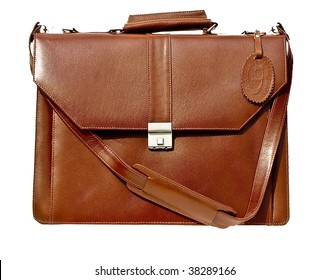 Leather bag corporate - brown