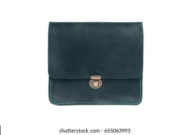 Leather bag on a white background, isolated