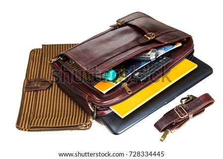 30afe685f3 Leather Bag Three One Style Briefcasebackpackand Stock Photo (Edit ...