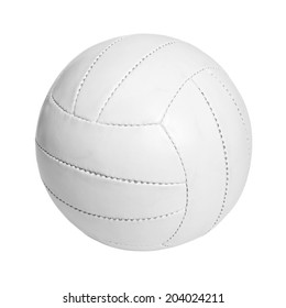 Leather ball isolated on a white background.