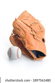 Leather Baseball Glove Isolated on White