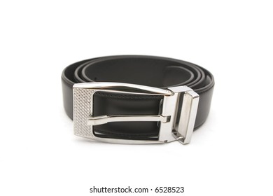 Leather belt isolated on white
