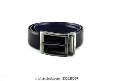 leather belt on white background