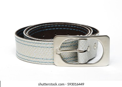Leather belt silver fashion accessories