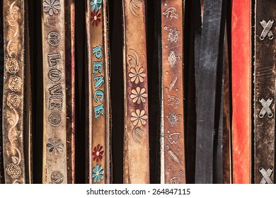 Leather Belts with Designs