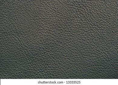 Leather of black color