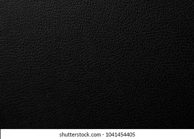 Leather black texture.Black dark leather background.