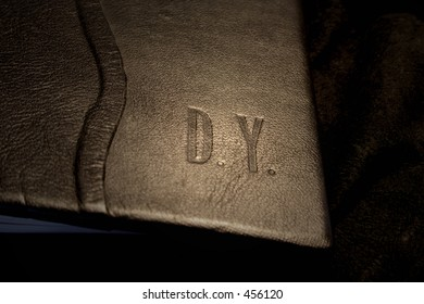 leather book cover - embossing