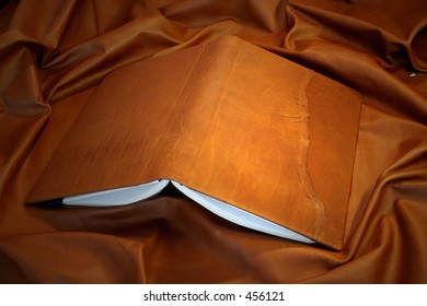 leather book cover - natural