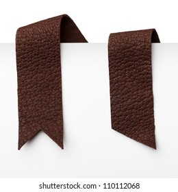 Leather bookmark ribbons