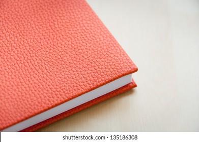Leather Bound Book Orange