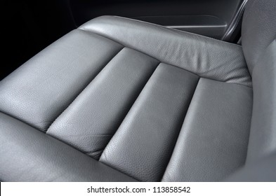 Leather car seat, close up