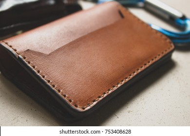 Leather cardholder edc