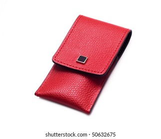 Leather case for manicure