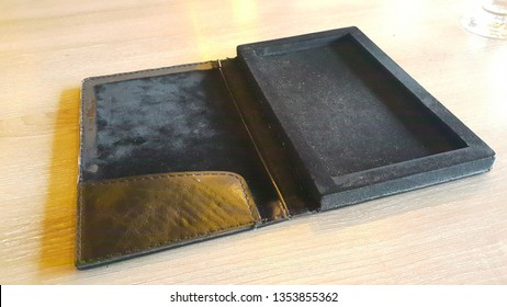 leather cashier holder