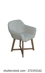 Leather chair isolated corner view