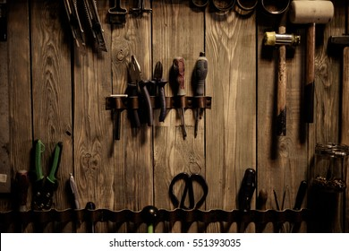 Leather craft object with tool using for leather manufacture